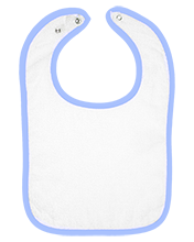 Lochburn Middle School Lions Infant Terry Snap Bib