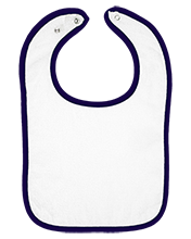 Saint Turibius School Trojans Infant Terry Snap Bib