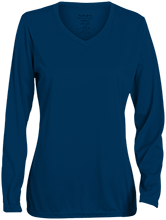Lansing Eastern High School Quakers Ladies Long Sleeve Wicking T-Shirt
