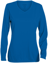 Malverne High School Ladies Long Sleeve Wicking T-Shirt