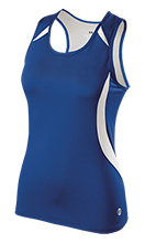 Lewiston High School Blue Devils Ladies Custom Fitted Singlet