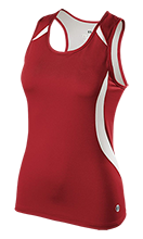 Clay Junior High School Trojans Ladies Custom Fitted Singlet