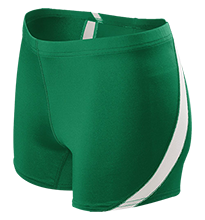 Homer Junior High School Mustangs Ladies Fitted Stretch Short