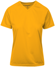Califon Public School Cougars Ladies Holloway Polyester Vneck T-Shirt