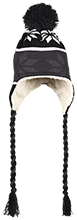 Unity Thunder Football Hat with Ear Flaps and Braids