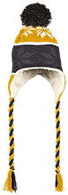 Del Val Wrestling Wrestling Hat with Ear Flaps and Braids