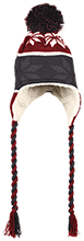 Meskwaki High School Warriors Hat with Ear Flaps and Braids