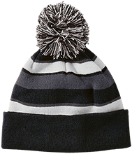 Islesboro Eagles Athletics Striped Beanie with Pom