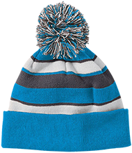 Central Middle School Bear Cubs Striped Beanie with Pom