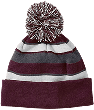 Shepherd Of The Valley Lutheran Striped Beanie with Pom