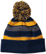 Holy Family Catholic Academy Athletics Striped Beanie with Pom