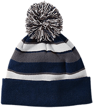 North Sunflower Athletics Striped Beanie with Pom