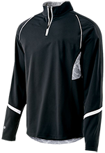 Tennis 1/4 Zip Polyester Pullover with Camo Inserts