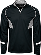 Hockey 1/4 Zip Polyester Pullover with Camo Inserts