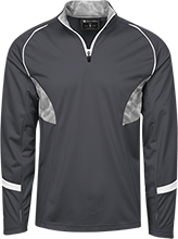 Seymour Middle School School 1/4 Zip Polyester Pullover with Camo Inserts