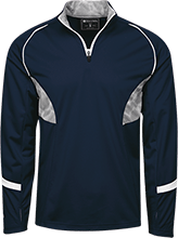 The Ranney School Panthers 1/4 Zip Polyester Pullover with Camo Inserts