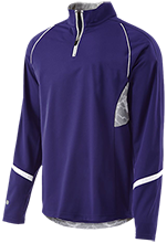 Waukee Middle School Warriors 1/4 Zip Polyester Pullover with Camo Inserts