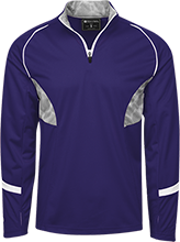 Bayfield High School Wolverines 1/4 Zip Polyester Pullover with Camo Inserts