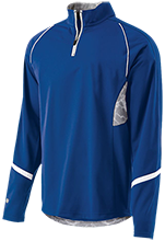Hopewell Memorial Junior High School Vikings 1/4 Zip Polyester Pullover with Camo Inserts