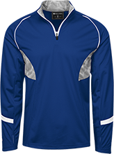 Crook County High School Cowboys 1/4 Zip Polyester Pullover with Camo Inserts
