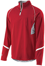 Raytown South Middle School Cardinals 1/4 Zip Polyester Pullover with Camo Inserts