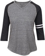 Soccer Ladies Vintage V-neck Shirt