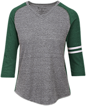 Janesville Parker High  School Vikings Ladies Vintage V-neck Shirt