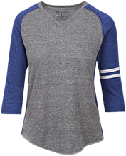 Wayne Elementary School Blue Devils Ladies Vintage V-neck Shirt