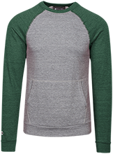 Greenfield High School Green Wave Vintage Fleece Heathered Crew