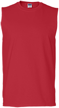 North Quincy High School Red Raiders Men's Cotton Sleeveless T-Shirt