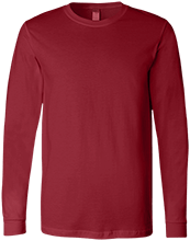 Design yours Football Bella+Canvas Men's Jersey Long Sleeve