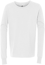 Elmont Memorial Junior Senior High Eagles Bella+Canvas Youth Jersey Long Sleeve