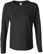 Baseball Ladies Long Sleeve Cotton TShirt