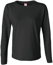 Baker Elementary School Bobcats Ladies Long Sleeve Cotton TShirt