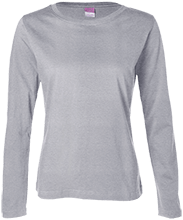 Memorial Junior High School-Mentor School Ladies Long Sleeve Cotton TShirt