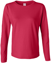 Bucyrus Middle School Redmans Ladies Long Sleeve Cotton TShirt