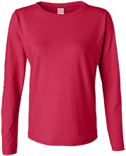 Calvary Baptist Christian High Cougars Ladies Long Sleeve Cotton TShirt