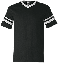 Rancho High Alumni Rams V-Neck Sleeve Stripe Jersey