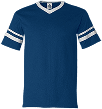 North Sunflower Athletics V-Neck Sleeve Stripe Jersey
