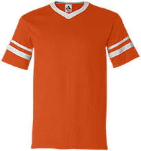 Clifford Marshall Elementary School Panthers V-Neck Sleeve Stripe Jersey