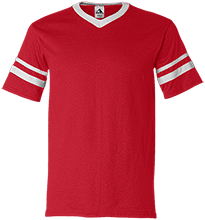 HTR Christian School Indians V-Neck Sleeve Stripe Jersey