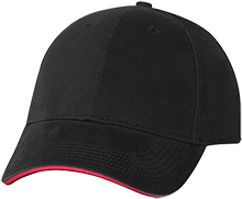Meskwaki High School Warriors USA Made Structured Twill Cap With Sandwich Visor