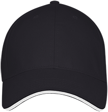 School USA Made Structured Twill Cap With Sandwich Visor