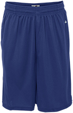 Sebring Middle School Sebring Blue Streaks Sweat Absorbing Short with Pockets