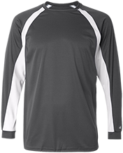 Baseball Long Sleeve Performance Colorblocked T Shirt