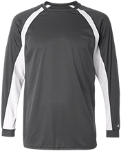 Football Long Sleeve Performance Colorblocked T Shirt