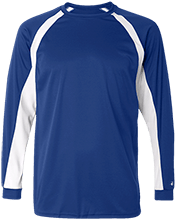 Malverne High School Long Sleeve Performance Colorblocked T Shirt