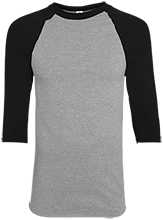 Dog Sledding Adult Colorblock Raglan Jersey