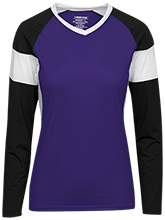 Deep Creek Alumni Hornets Womens LS Colorblock Performance Jersey