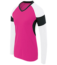 Clearwater-Orchard Cyclones Womens LS Colorblock Performance Jersey